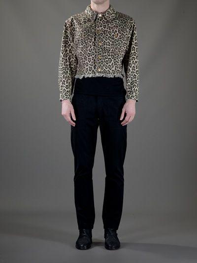 Jean Paul Gaultier Vintage Leopard Print Denim Jacket
