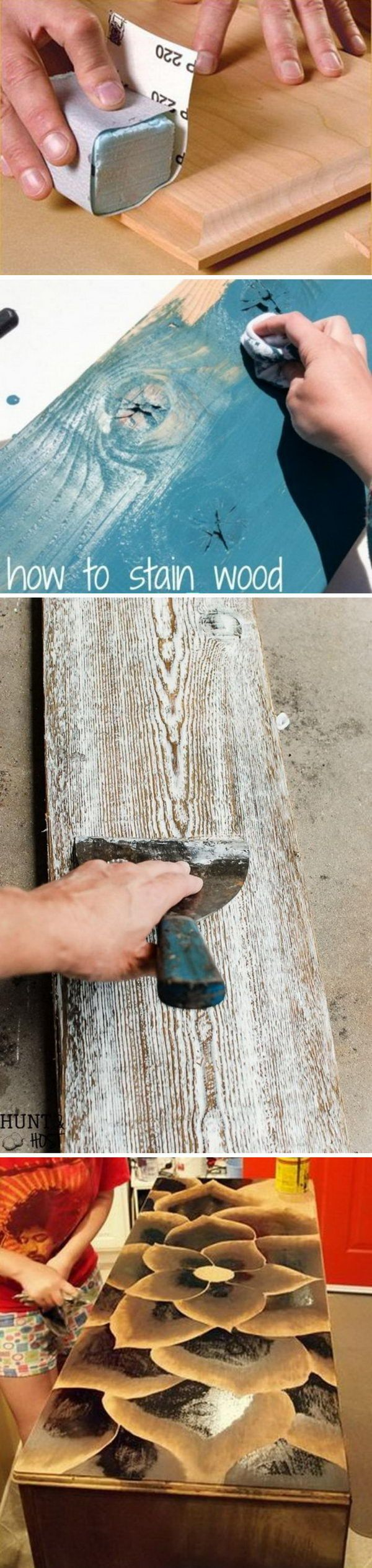 DIY Ideas & Tutorials for Using Wood Stains.