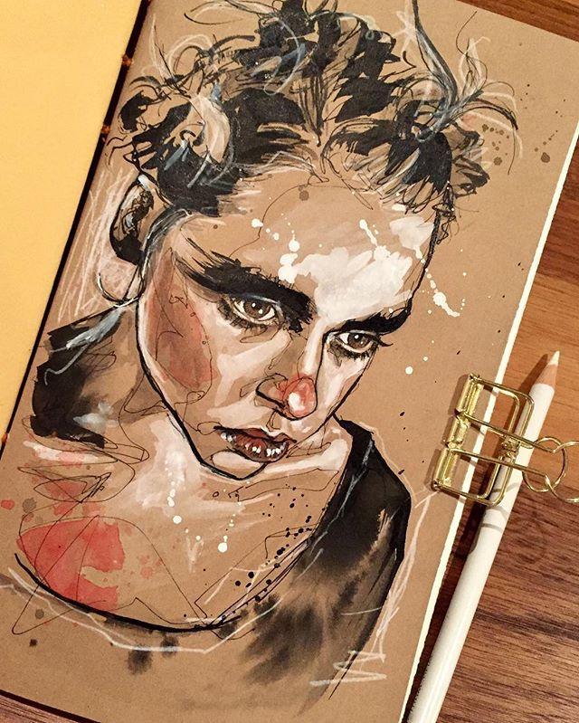 #Portrait #Portraitsketch #Sketch #Sketchbook | WEBSTA - インスタグラム解析サービス