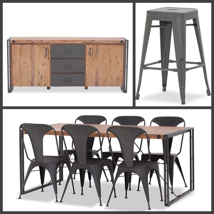 Rocket Stool City2 Buffet And Dining Setting From Super Amart