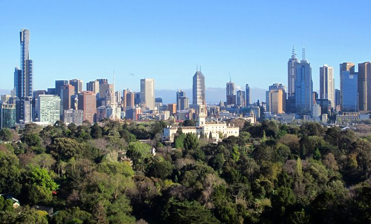 Melbourne from the roof of the Domain. Restricted access to roof.