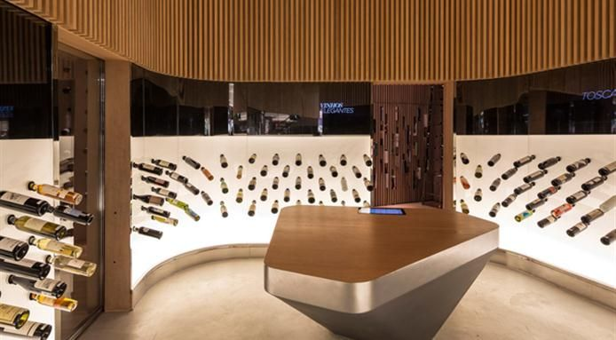 Beautiful #Wine Shop Design In #Brazil | http://www.finedininglovers.com/blog/culinary-stops/brazilian-wine-mistral/