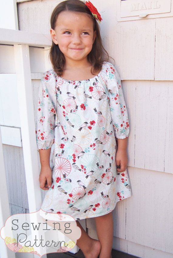 INSTANT DOWNLOAD- Janey Dress (Size 6/12 months to SIze 8) PDF Sewing Pattern and Tutorial