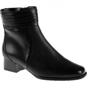 Womens Ara Giovanna Ankle Boots Black Leather - ONLY $168.95