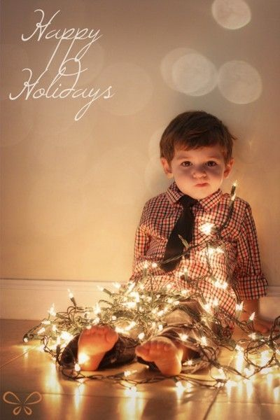 """Christmas card! This is so cute love his expression It's like """"what am I gonna' do now???"""""""