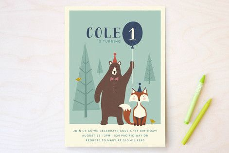 Into The Woods! Children's Birthday Party Invitations by Karidy Walker at minted.com