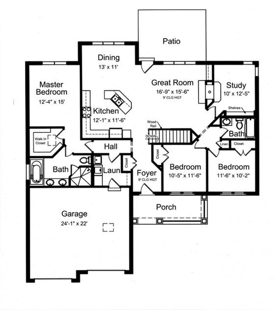 Craftsman Style House Plan 3 Beds 2 Baths 1818 Sq Ft Plan 46 836 One Level House Plans Craftsman Style House Plans One Level Homes