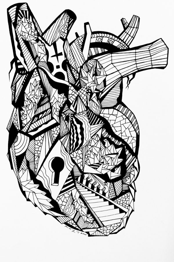 15 Beautiful Human Heart Drawing Pieces That Will Inspire You