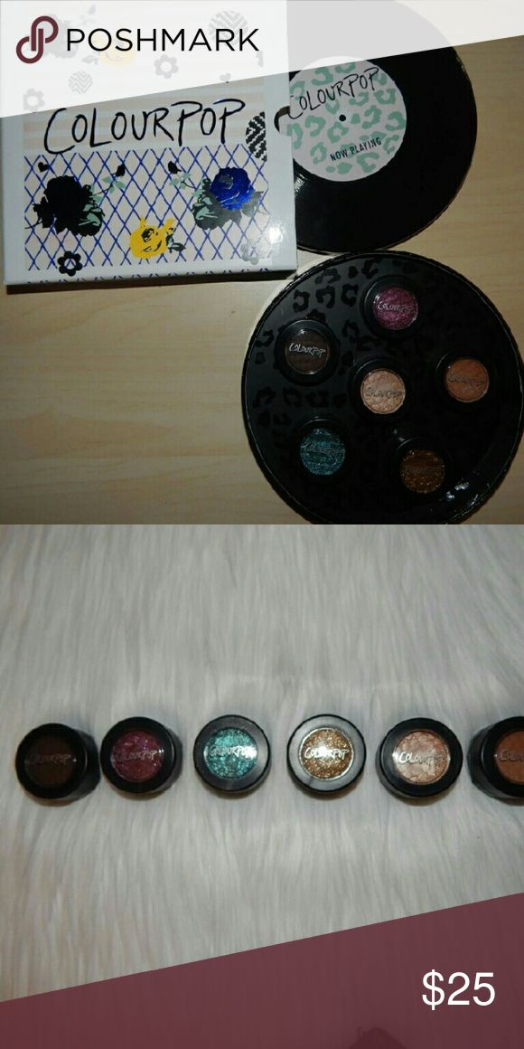 "Colourpop eyeshadows Can buy together or individually, just ask!  Shades: ""Fairfax, Babykins, Patchwork, Thirsty Girl, PeekABoo, &Desert Makeup Eyeshadow"