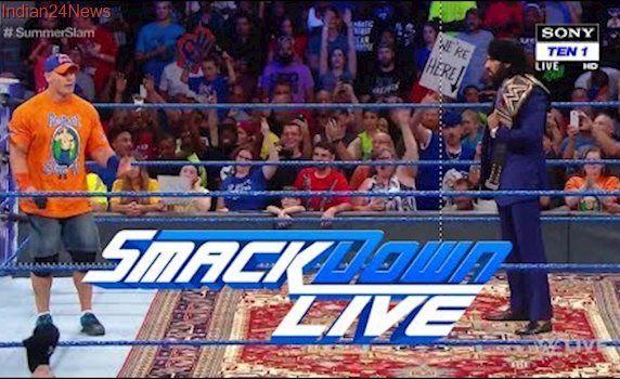 John Cena Confronts Jinder Mahal Smackdown Live 7/25/17 : WWE Smackdown Live Highlights 25 July