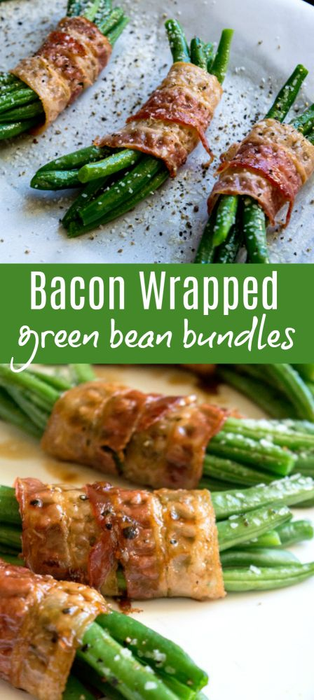 Bacon Wrapped Green Bean Bundles - Turkey bacon can be used.
