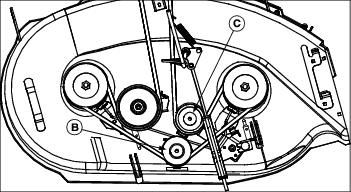 Image result for john deere lt155 deck belt diagram