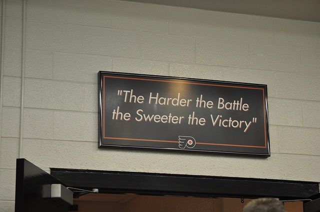 flyers locker room sign