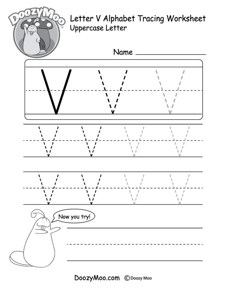 Uppercase Letter V Tracing Worksheet Tracing worksheets