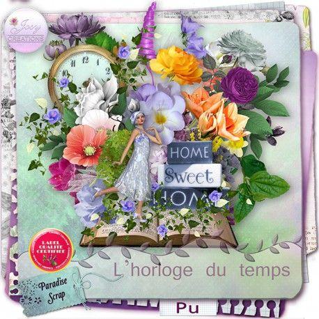 **NEW** L'Horloge Du Temps by JosyCréations Available @ http://www.paradisescrap.com/fr/112_josy-creations