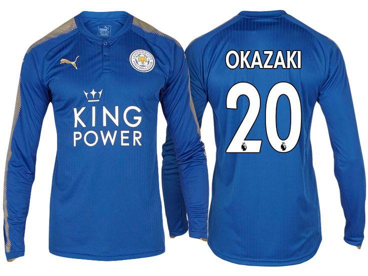 Leicester City Jersey shinji okazaki Home Long Sleeve 17-18 Shirt