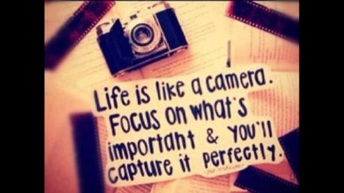 What do you focus on in life?