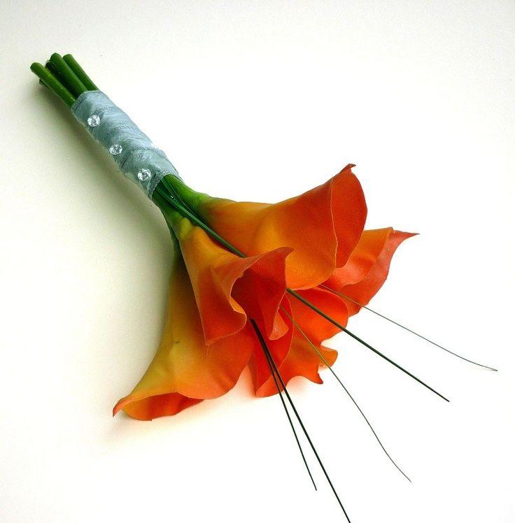 artificial orange calla lilies - Google Search