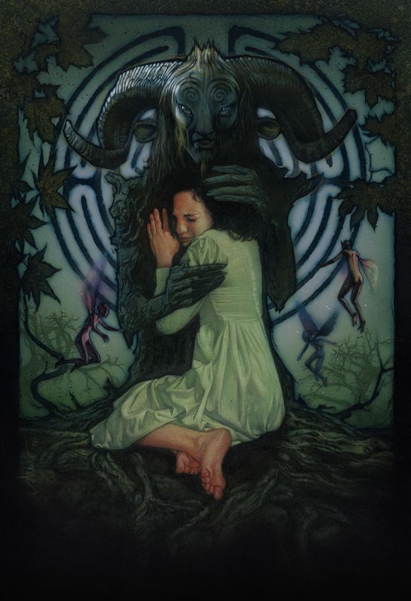 Gorgeous Pan's Labyrinth movie poster by Drew Struzan. I can't. Heart: Broken