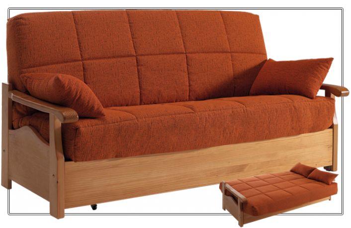 Sofá cama clic clac moderno de madera