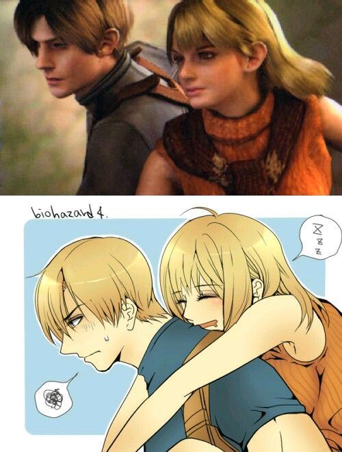 Leon x Ashley in Resident Evil 4