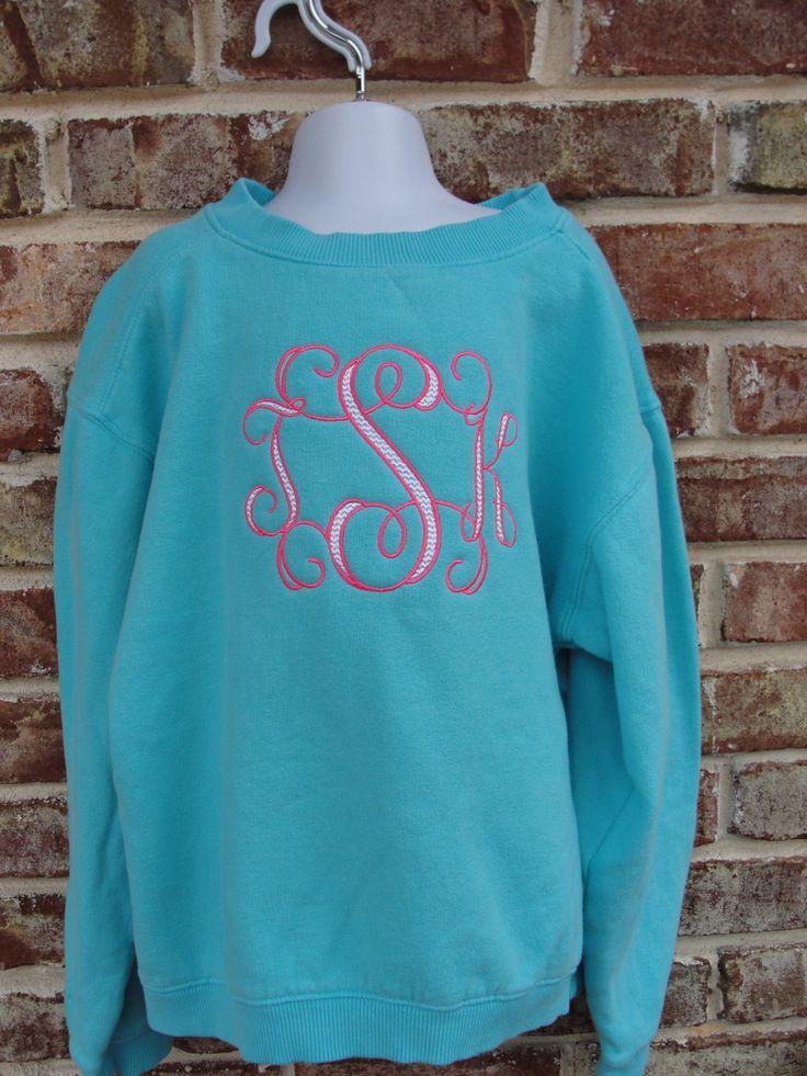 best 25  monogram sweatshirt ideas on pinterest