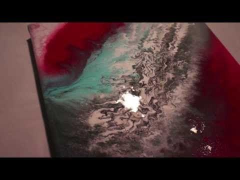 Acrylmalerei Demo, Fluid Acrylic Painting, Black, White, Clouds, Abstract Art by Brigitte König - YouTube