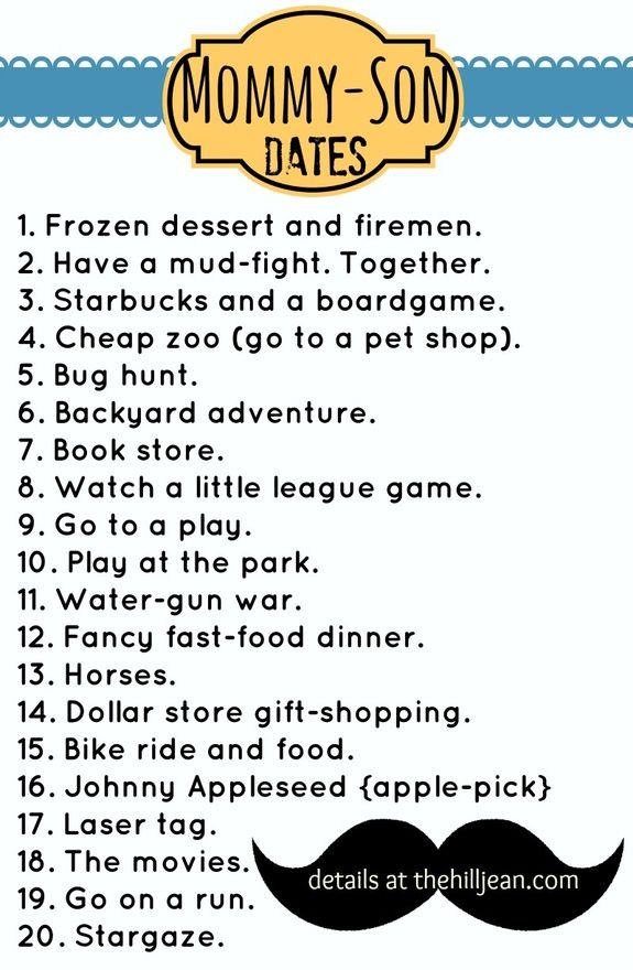 Awesome Mommy Son Date ideas