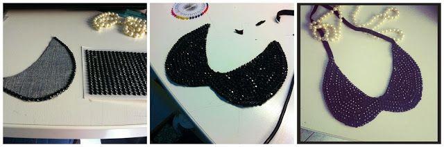 Le creazioni di Federica: Collana colletto fai da te - DIY Peter Pan collar