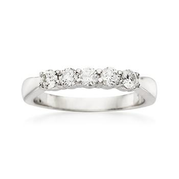 This Wedding Ring Has It All Tied Up Nicely Including A Five Diamond Center Totaling Ct And Finely Detailed Band With Graceful Detailing