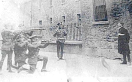 Dec. 8, 1922- Four anti-treaty Irish Republicans Rory O'Connor, Liam Mellows, Richard Barrett and Joe McKelvey were shot.