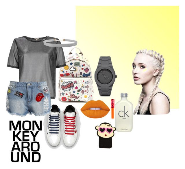 xb by ayozimhere on Polyvore featuring River Island, Sans Souci, Anya Hindmarch, CC, Humble Chic, Lime Crime and Calvin Klein