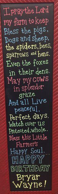 Barnyard Bash -Farmers Prayer