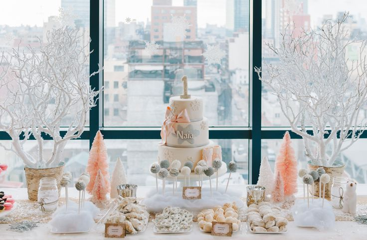 winter wonderland dessert table : smp living