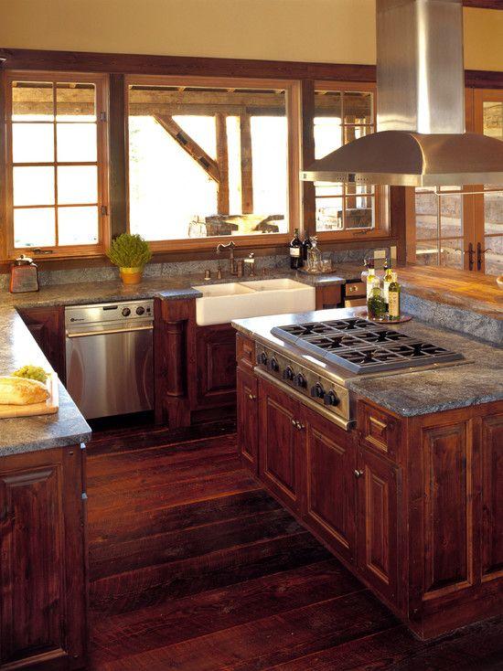 Dark Wood Country Kitchen 46 best rustic kitchens images on pinterest | dream kitchens