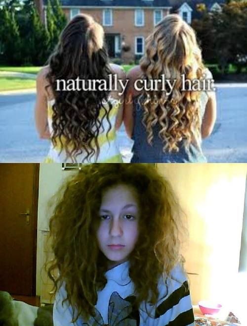 FYI, that above picture is what the media *thinks* natural curls look like. If you have natural curl, you can clearly see they are heat curls.