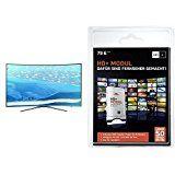 Samsung KU6509 123 cm (49 Zoll) Curved Fernseher (Ultra HD, Triple Tuner, Smart TV)+ HD PLUS CI+ Modul für 6 Monate (inkl. HD+ Karte, optimal geeignet für UHD, nur für Satellitenempfang) Bundle