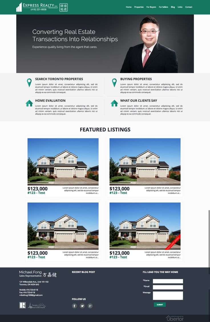 Michael Fong  Express Realty Inc.  Brokerage  Toronto real estate http://www.michaelfong.ourubertor.com/Home.php