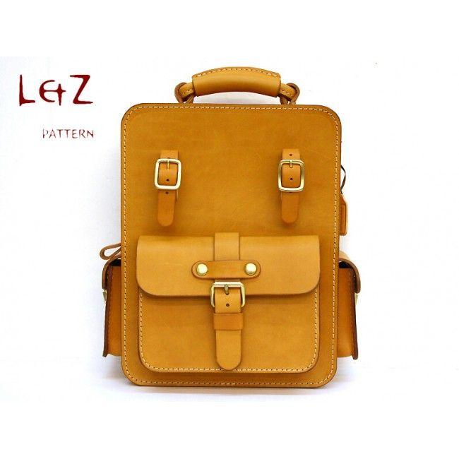 Bag sewing patterns shoulder bag patterns PDF BXK-29 LZpattern design hand stitched leather patterns leather art leather bag patterns