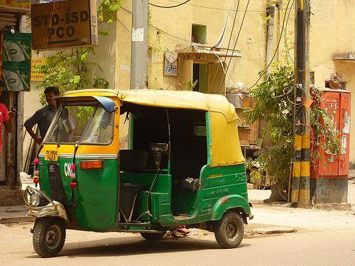 Tuk Tuk in Delhi, India