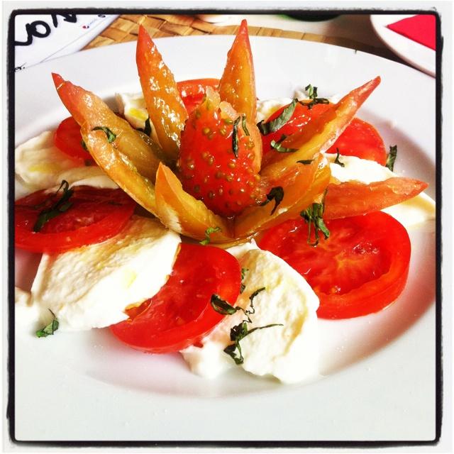 Caprese salad in Spain