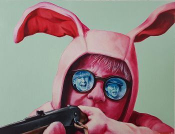 A new addition to my reflection paintings. The painting is an illustration of the protagonist, Ralphie, facing his two n...
