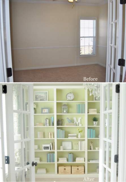 Cool site that shows before and after of a couple's home in one year of redecorating.
