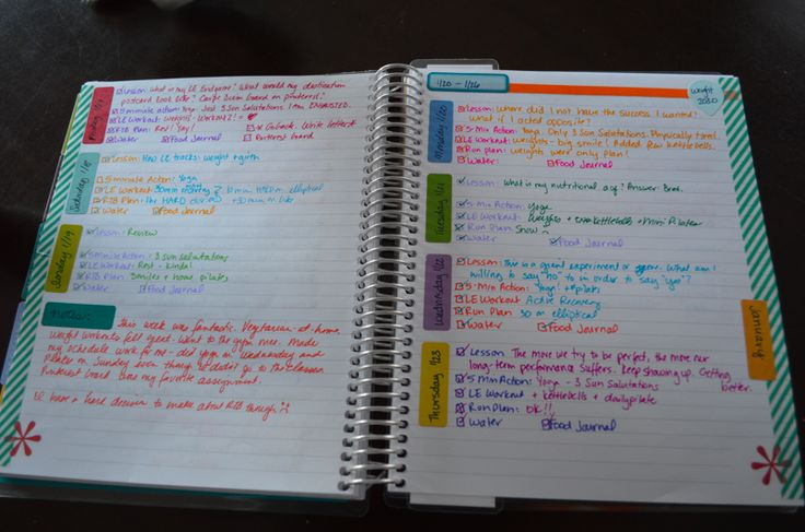 Erin Condren notebook for weight loss & fitness tracking ...