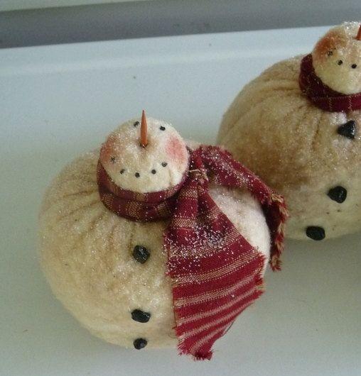 prim bowl fillers | Primitive snowman ornie tuck bowl filler prim by ahlcoopedup, $6.95