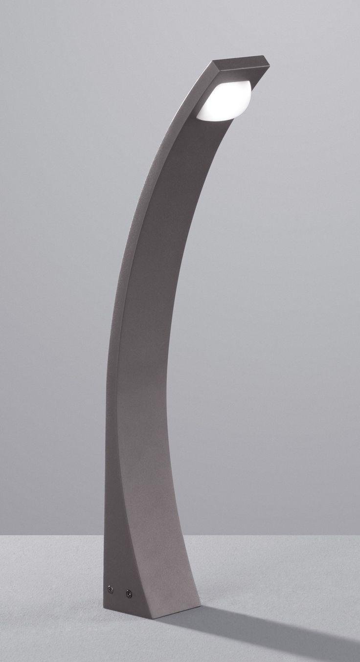 Borne extérieure une lumière en fonte d'aluminium coloris anthracite  Éclairage LED intégrée