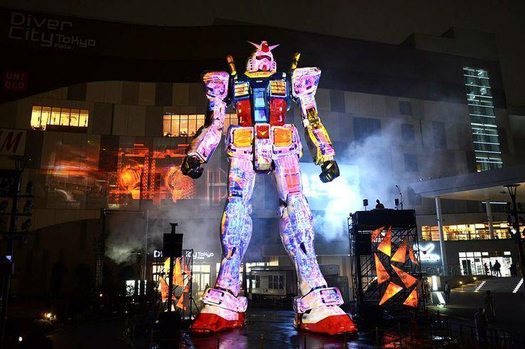 """村松亮太郎/TOKYOガンダムプロジェクト2014 ガンダムプロジェクションマッピング """"Industrial Revolution""""-to the future-。"""