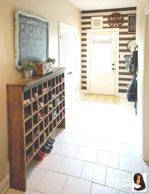 Amazing Diy Shoe Rack In 2020 Diy Shoe Rack Hallway Shoe Storage Small Entryways