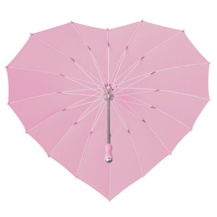 Hartjes Paraplu Licht Roze