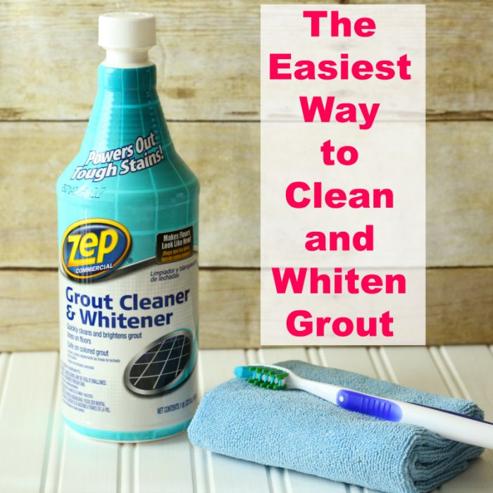 The Easiest Way to Clean and Whiten Grout from cupcakesandcrinoline.com